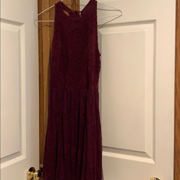 Abercrombie & Fitch Dresses & Skirts - maroon velvet lace dress